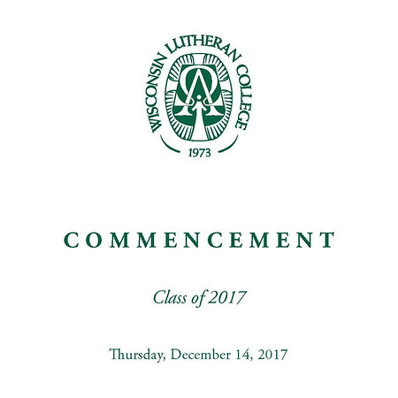 Welcome to the photo galleries for the Wisconsin Lutheran College fall commencement ceremonies, which will be taking place on December 14. Photos from the event will be taken by Varitay Studios and posted here within a few days of commencement. Photos will include the processional and recessional as well as the diploma ceremony and speakers. <br /> <br /> You will be able to purchase photos directly through the website. Prints will be available in various sizes from 4x6 to 5x7, 8x10, and larger. Mounted and framed prints are also available, as are digital downloads.<br /> <br /> Please email me at jeff@varitay.com if you have any questions.