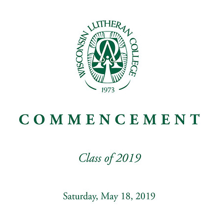 Welcome to the photo galleries for the Wisconsin Lutheran College 2019 spring commencement, held May 18. Photos are posted in galleries by category, including processional, diploma ceremony (two vantage points), recessional (two vantage points), and general ceremony (including speakers).<br /> <br /> Images are available as prints in sizes from 4x6, 5x7, 8x10, and larger. Mounted and framed prints are also available, as are digital downloads.<br /> <br /> Please email me at jeff@varitay.com if you have any questions.