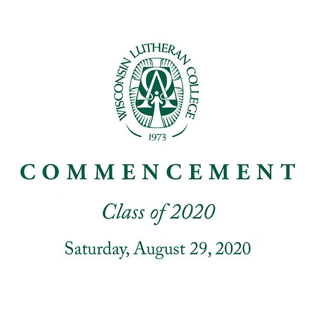 Welcome to the photo galleries for the Wisconsin Lutheran College 2020 commencement, held Saturday, August 29, 2020. Photos are posted in galleries by category, including introductions (where grads stood up in turn) from two vantage points; the diploma ceremony; portraits (taken immediately after each grad received their diploma cover); and general ceremony (including speakers).<br /> <br /> Images are available as prints in sizes from 4x6, 5x7, 8x10, and larger. Mounted and framed prints are also available, as are digital downloads. Photos can be ordered directly through each gallery. Prints are shipped directly from the lab; downloads are emailed to you as soon as payment is made.<br /> <br /> Please email me at jeff@varitay.com if you have any questions.