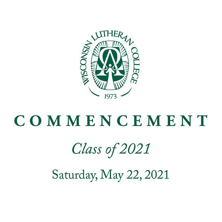 Welcome to the photo galleries for the Wisconsin Lutheran College commencement ceremonies, held Saturday, May 22, 2021. Photographs are presented in galleries by category: Grad portraits, diploma presentation, general ceremony, and introductions (two vantage points).<br /> <br /> Photos are available for purchase as prints (in various sizes, including framed and mounted) or as digital downloads. Please email me with any questions (jeff@varitay.com).