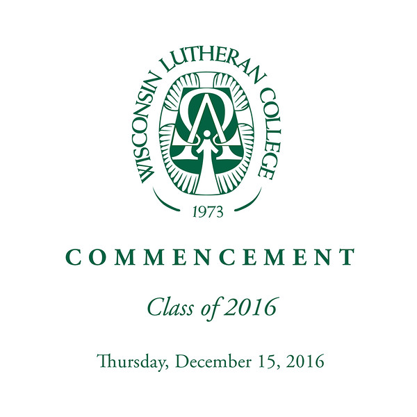 """Welcome to the photo galleries for the Wisconsin Lutheran College Fall 2016 Commencement ceremonies, which took place on Thursday, December 15. The galleries include the processional, diploma presentation, recessional, and general ceremony photos (speakers and crowd).<br /> <br /> You can order prints (including framed and mounted) as well as digital downloads from the event directly through this website. In each gallery, click on any image to see a larger view; click the """"Buy Photos"""" button to see size and price options. Please email me at jeff@varitay.com if you have any questions. Thank you for stopping by! — Jeff Wilson, Varitay Studios"""