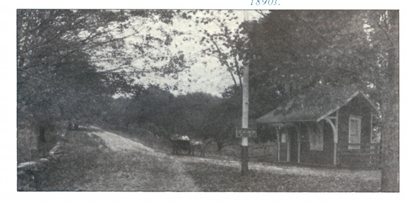 earliest known photo - late 1800s - intersection of Mead St and Post Office Rd