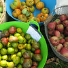 local apples and tomatoes