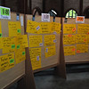 The agenda wall begins to take shape. World Open Space on Open Space (WOSonOS), Berlin Germany May 13, 2010.