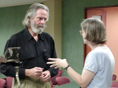 Steve Russell (GWSW, LLC) chats with Jean (UPR-MSC)