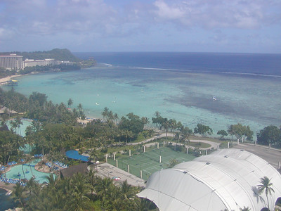 On a clear day, you can see forever .... this is what the tourist side of Guam looks like.