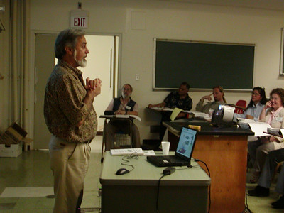 """NIH Grants"" seminar presentation at the University of Guam. Dr. Anthony Coelho, Jr. of NIH is the presenter."