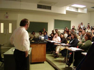 """Write Winning Grants"" seminar presentation at the University of Guam. Dr. David Morrison is the presenter."