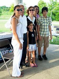 The Farid family: Mydah Stover, Raouf Farid, Ally Kilgore, Mona Farid (wife), Nadine Kilgore, and TJ Kilgore.