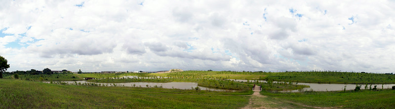 Panorama view of the Willow Waterhole as seen from the gazebo.