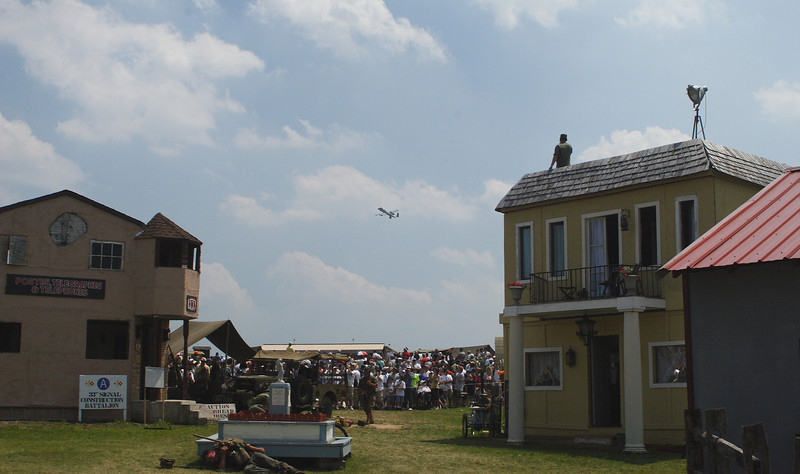 A-10 Warthog providing air support during the battle in the French Village.