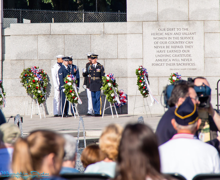 the service members who help place the wreaths