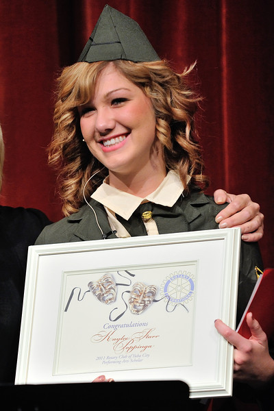 DSC_8830 Kaylee Poppinga receives the Rotary Performing Arts Scholarship