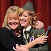 DSC_8825 Kathleen Hansen presents the Rotary Performing Arts Scholarship to Kaylee Poppinga