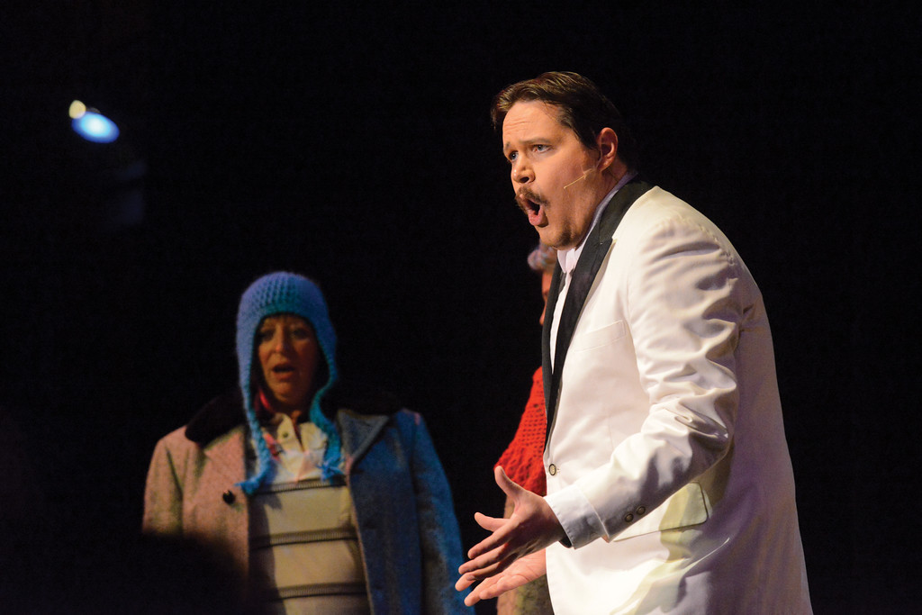 "Ashleigh Fox | The Sheridan Press<br /> <br /> AJ Longhurst (Sweaty Eddie) performs ""I Could Be That Guy"" during the WYO Theater 2017 Gala performance of ""Sister Act"" on Saturday."