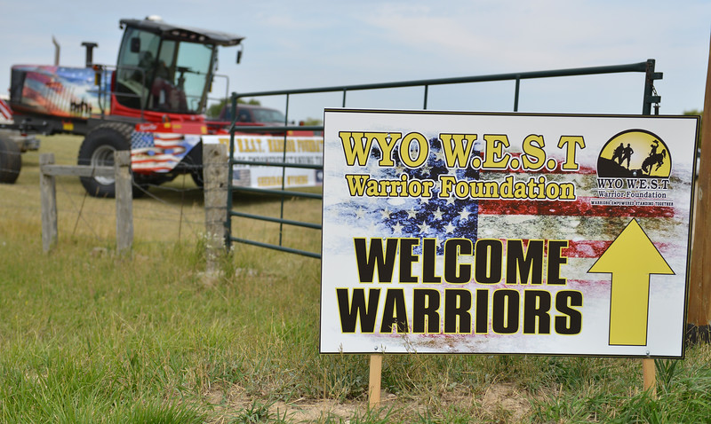 Ryan Patterson | The Sheridan Press<br /> A sign welcomes attendees to the WYO West Warriors Foundation weekend at the Dow Ranch Friday, Aug. 31, 2018. The five-day event brought more than 30 veterans and their friends and family to the Sheridan area for camaraderie and relaxation.