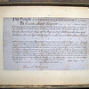 The official appointment of Enoch Mead, Esquire as a First Major of his own Regiment in the Westchester County militia, dated November 21, 1800 and signed by the Governor of NY, John Jay and the Secretary of the State of NY, Daniel Hale.  Enoch Mead was the first of the Mead family to settle, with his bride, in Waccabuc.  He built Elmdon just before his death in 1807 and is buried in the Mead Street cemetery.