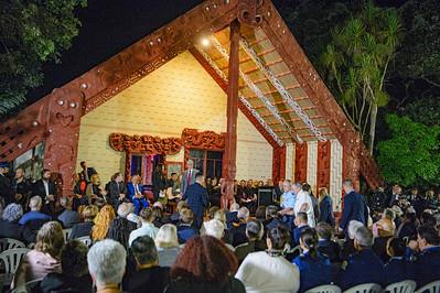 MP Kelvin Davis recieves the welcome on Te Whare Rūnanga