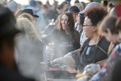 Jacinda Ardern cooks BBQ breakfast, Waitangi 2021