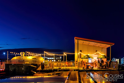 Bayside Bowl's roof patio.