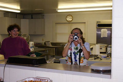 Claire & Deb with the dueling camera.