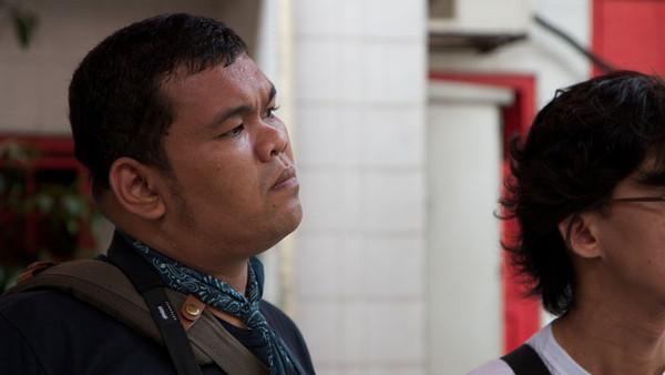 Magnus listening intently