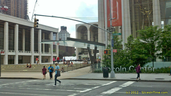 Across from Lincoln Center
