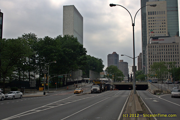 UN Secretariat Building from 1st Ave at E 49th Street, New York, NY