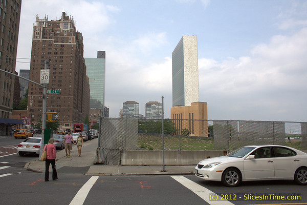 Uncommon view of the United Nations Secretariat Building - 1st Ave, New York, NY