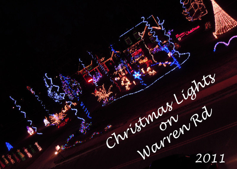 Warren Road Christmas Lights 2011
