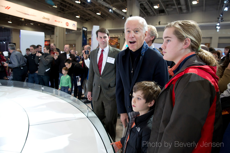 Joe Biden visits the Washington Auto Show