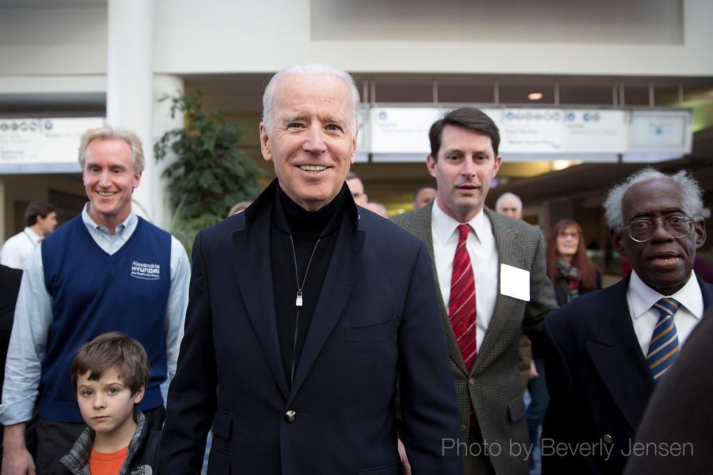 Joe Biden visits the Washington Auto Show