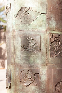 Roosevelt Memorial - Conservation Corps Pillars