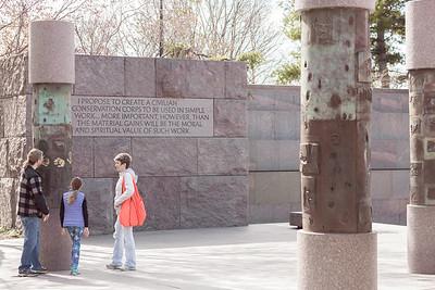Roosevelt Memorial - Conservation Corps Pillars