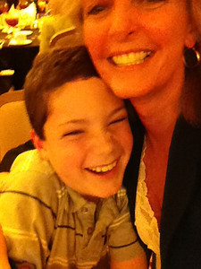 Cuddling Peyton Brush of Texas, who has hemophilia. His mom is one of LA Kelley Communications' writers.