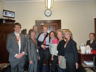 NEHA team with Joe Kennedy III. We did not twist his arm to support HR 460!