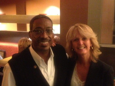 Val Bias, CEO of NHF, advocate and long-time friend, with Laurie Kelley