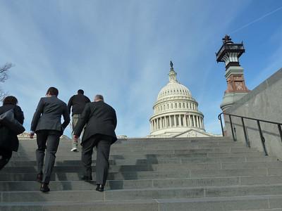 New England Hemophilia Association (NEHA) members charge towards Capitol Hill!