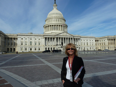Laurie's been here as a tourist but this is her first Washington Days for hemophilia!