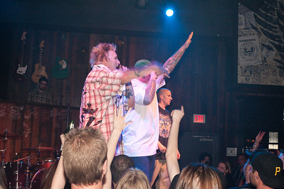 Photographs of Carey Hart, motocross champion with rapper Big B and bands Sinner and Scott Russo at Wasteland in Hard Rock Casino in Las Vegas, Nevada. Big B and his crew performing here in Wasted Space, followed by Bands Scott Russo and Sinner.