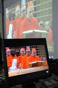 St. Joseph School Watches Papal Conclave