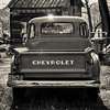 Vintage Chevy Pickup Truck - B/W