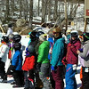 Skier Matt (#4) does second run.<br /> Suzanne, WV Employee gets dolled up for Spring and the results are breathtaking.