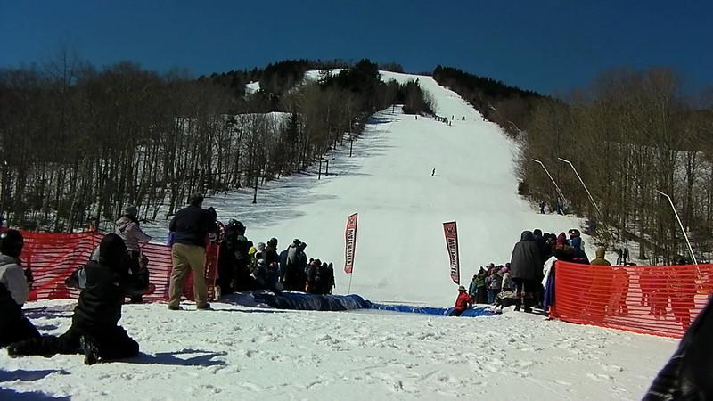 Boarder #2 & Skier #3 (Plunger Guy) & Skier #4 (Matt) - drenches crowd right.