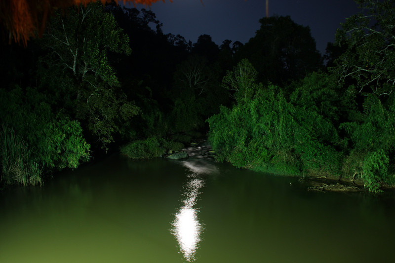 moon lit stream