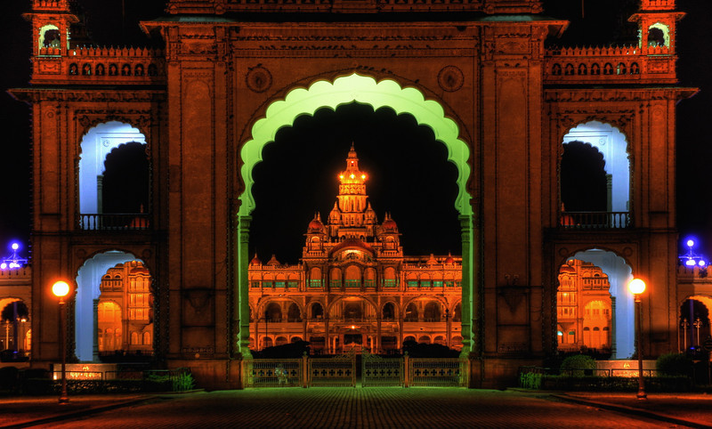 the golden palace of Mysore