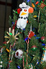 11/09:  Close-up of We Care Christmas tree decorations, by Howard County Recycling District