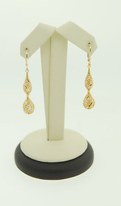 These 14K lacey looking drops are intricately designed & light & easy to wear. Dangle earrings are still hot & are in for all ages!