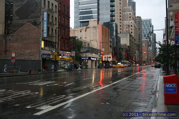 8th Avenue a few hours before Hurricane Irene hit, August 27, 2011