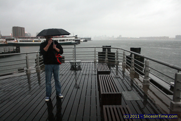 Around the Hudson River a few hours before Hurricane Irene hit, August 27, 2011